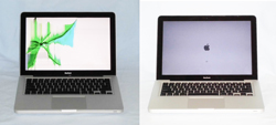 MacBook液晶修理before after